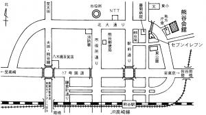 熊谷会館 地図